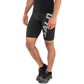 Salming Power Logo Tights Men black/silver reflective